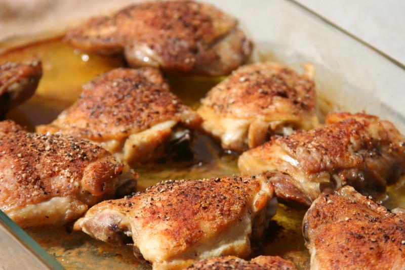 Bone In Chicken Thighs  Baked Chicken Thighs