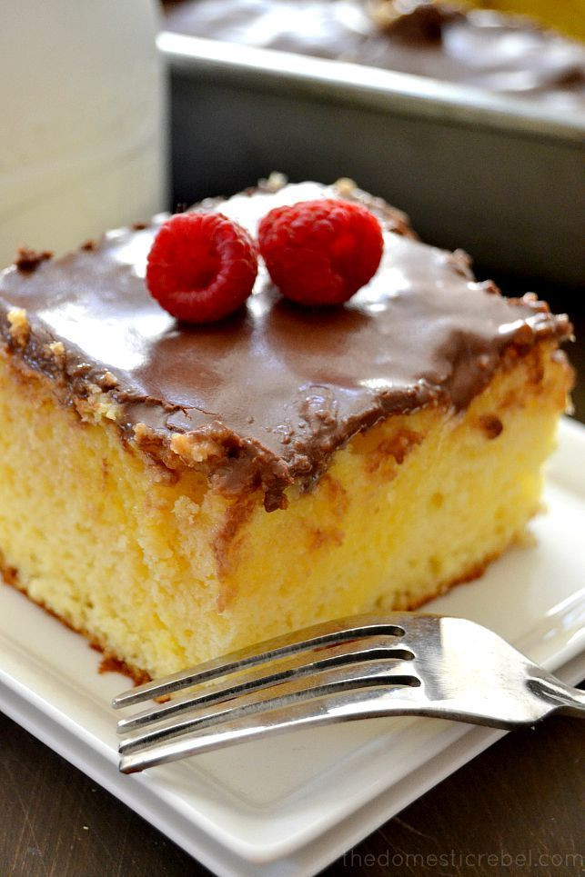Boston Cream Pie Poke Cake  Boston Cream Pie Poke Cake Recipe