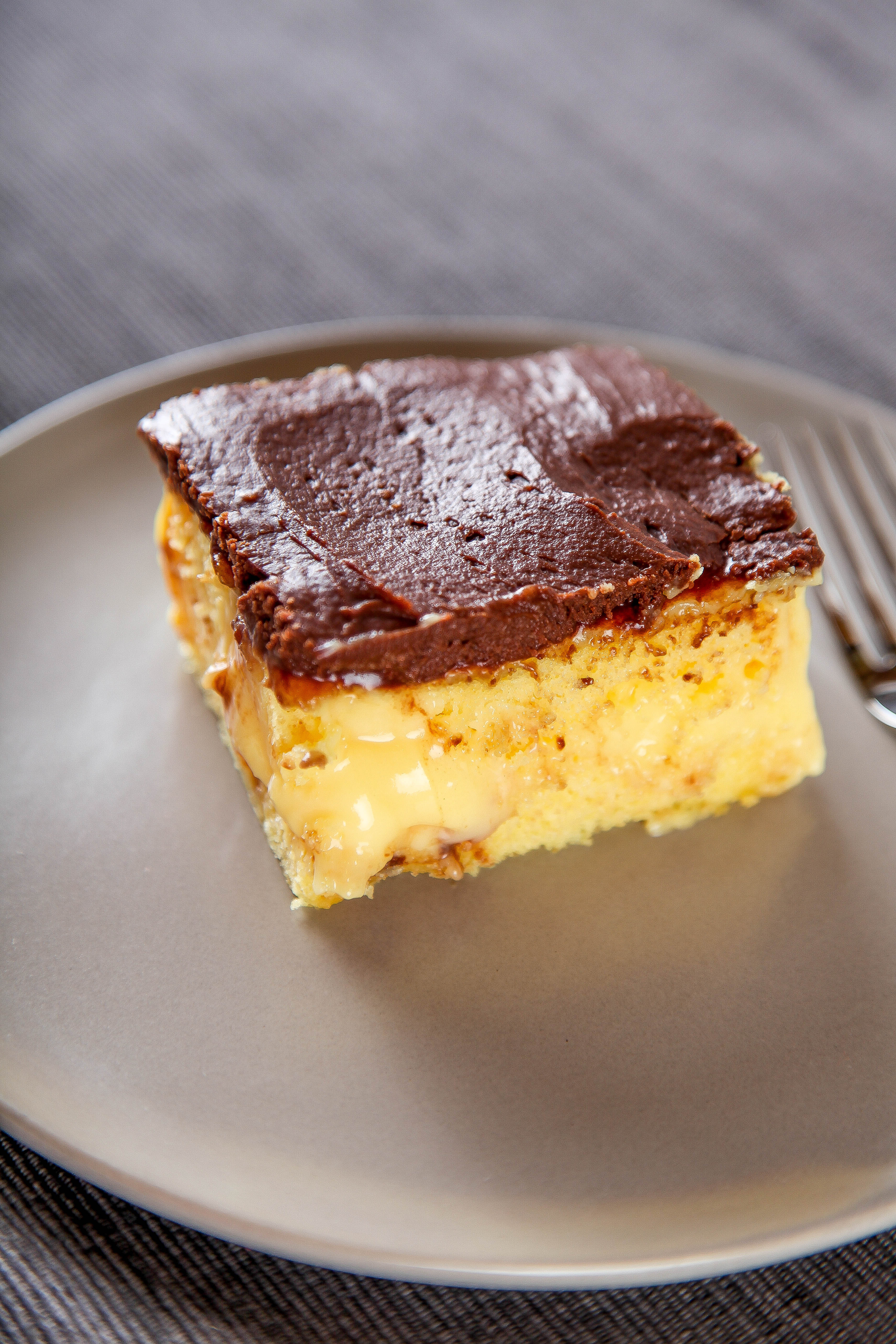 Boston Cream Pie Poke Cake  Boston Cream Poke Cake Baking Beauty
