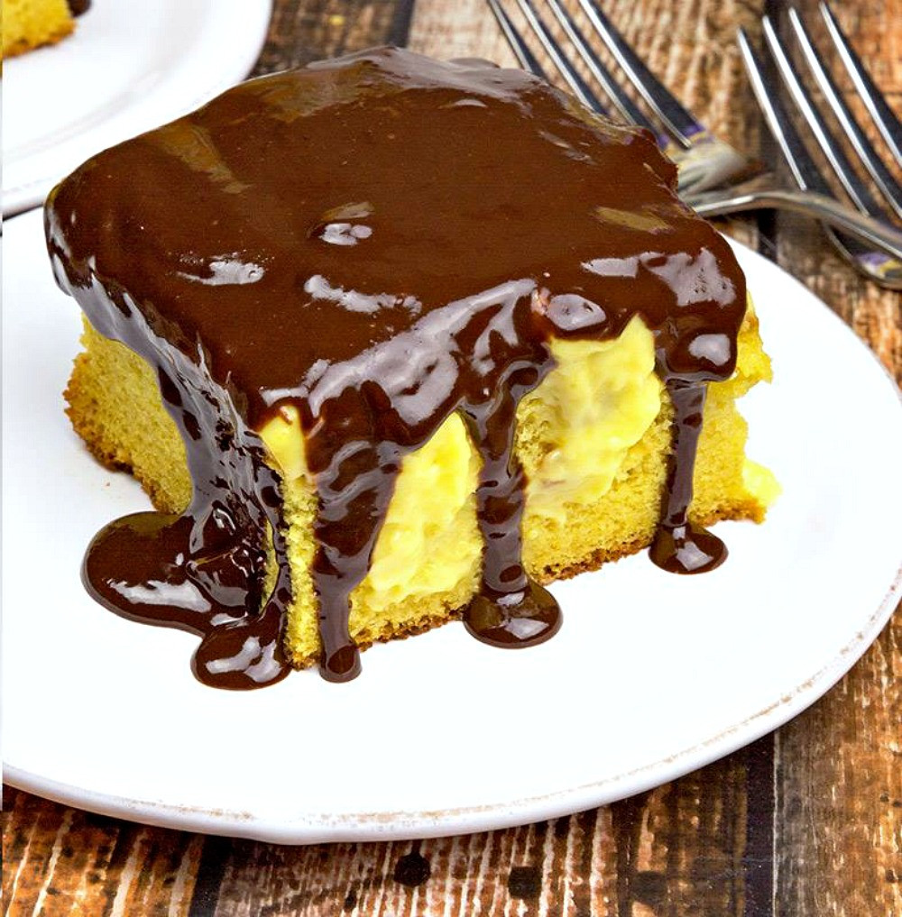 Boston Cream Pie Poke Cake  7 Moist and Yummy Poke Cakes – All Made with A Cake Mix