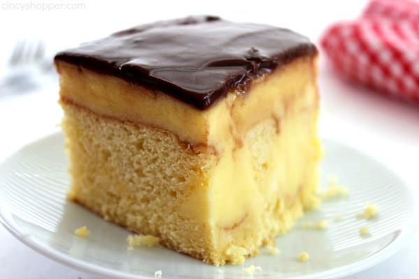 Boston Cream Pie Poke Cake  boston cream cake