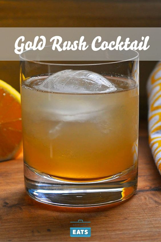 Bourbon Mixed Drinks  Gold rush Bourbon and Cocktail drinks on Pinterest