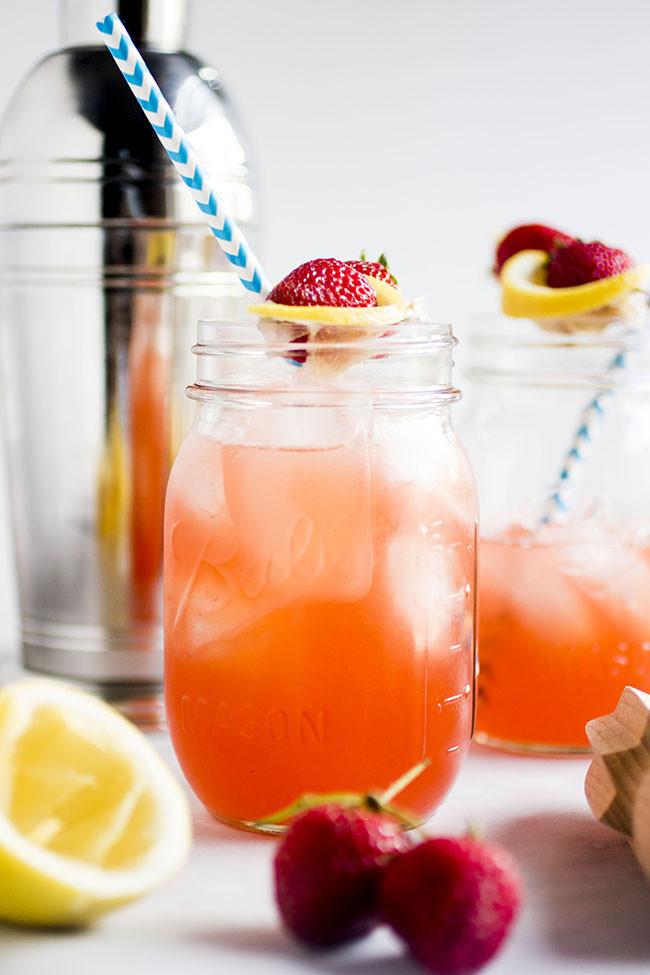 Bourbon Mixed Drinks  Strawberry Whiskey Lemonade