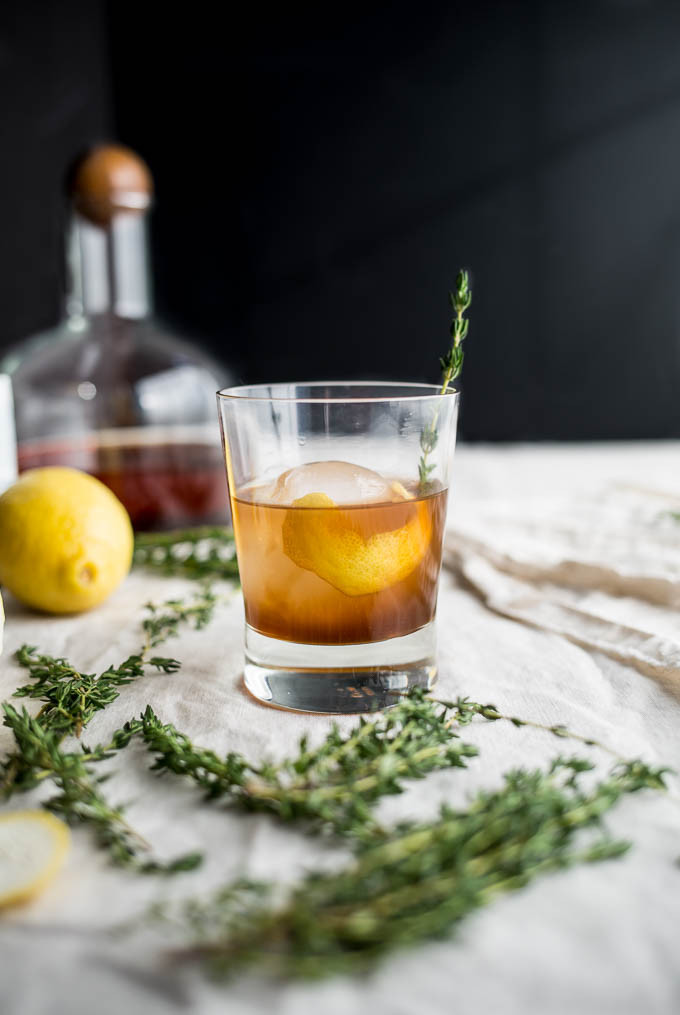 Bourbon Mixed Drinks  Bourbon Thyme Cocktail – Salted Plains
