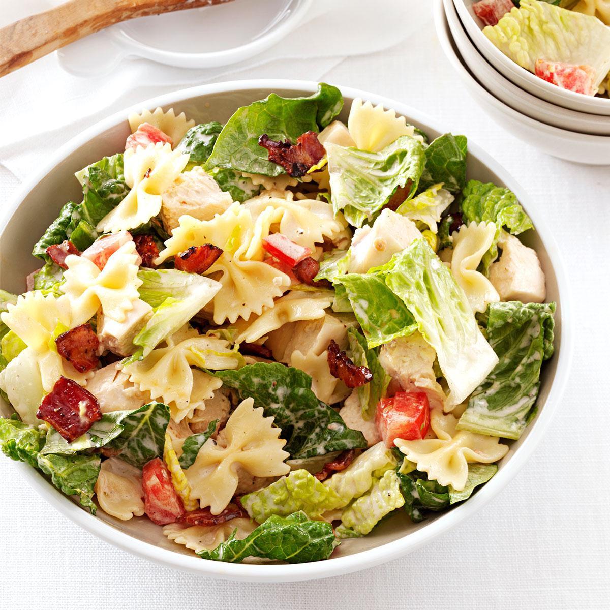 Bowtie Pasta Salad  BLT Bow Tie Pasta Salad Recipe