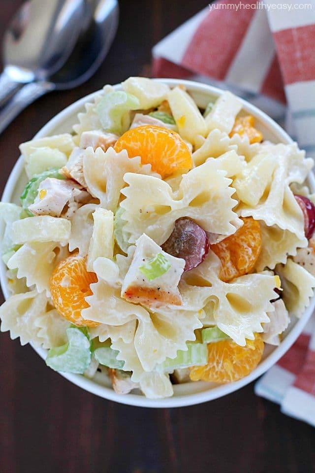 Bowtie Pasta Salad  Tropical Chicken Bowtie Pasta Salad Yummy Healthy Easy