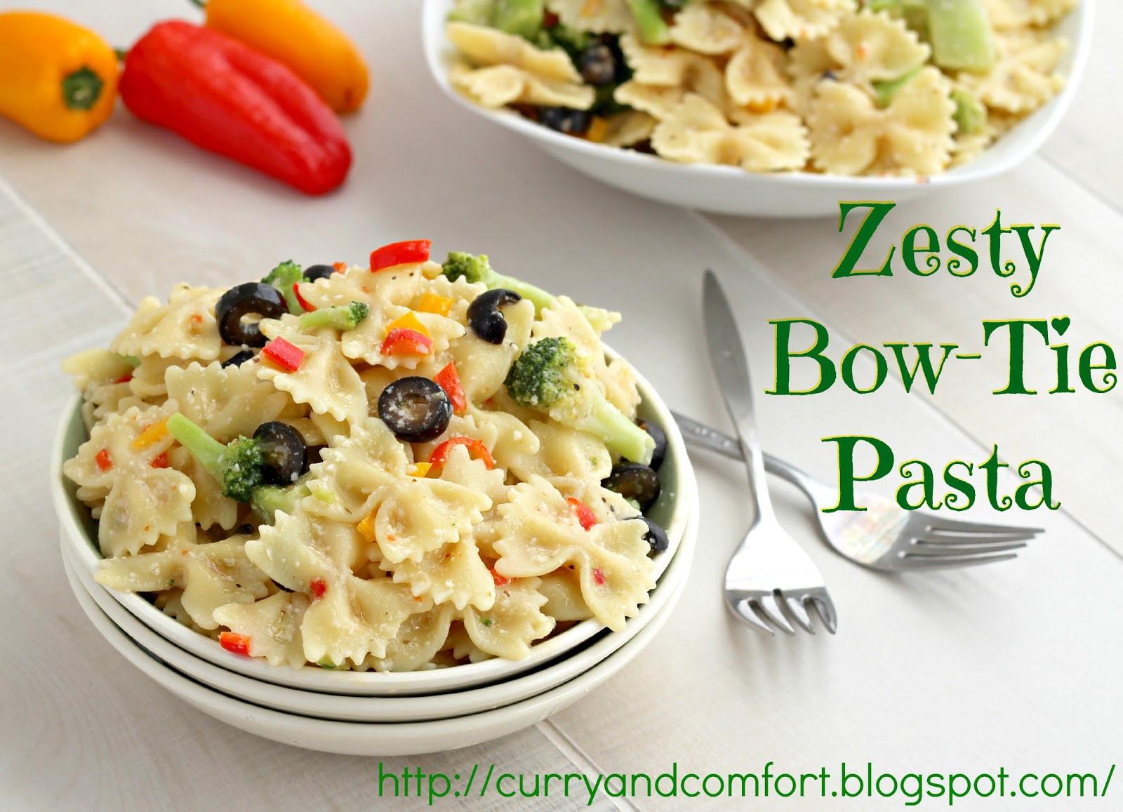 Bowtie Pasta Salad  Kitchen Simmer Zesty Bow Tie Pasta Salad