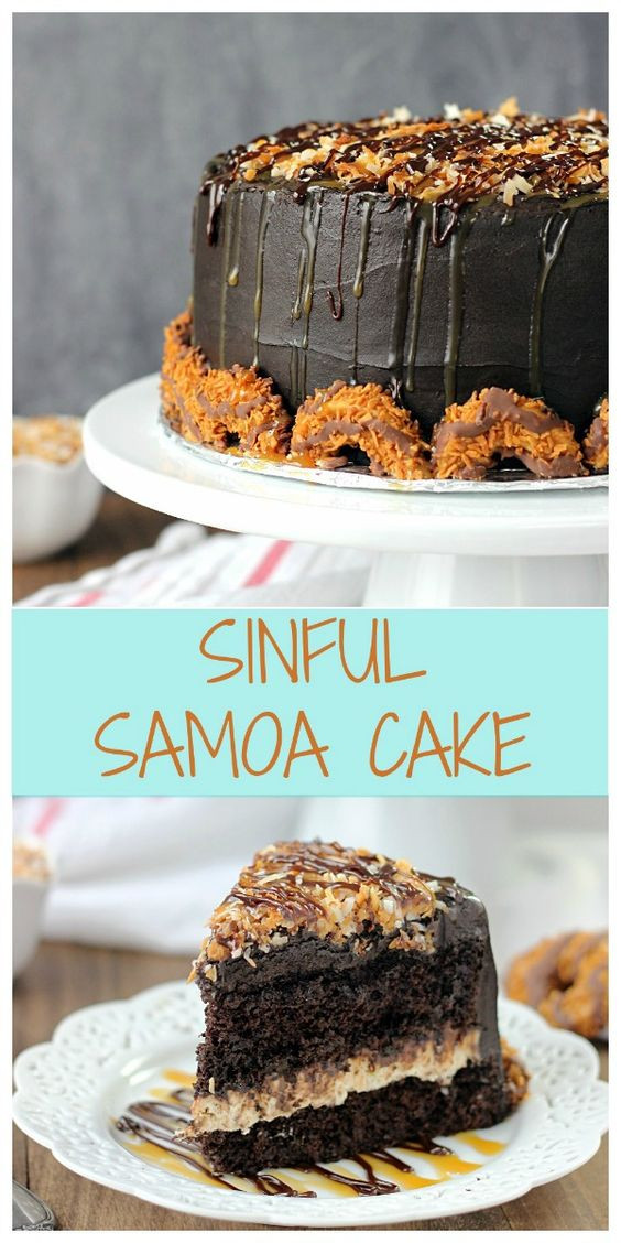 Box Chocolate Cake Mix Recipes  Sinful Samoa Cake Recipe