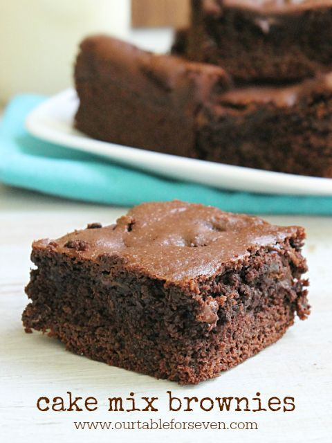 Box Chocolate Cake Mix Recipes  17 Best ideas about Brownies From Cake Mix on Pinterest