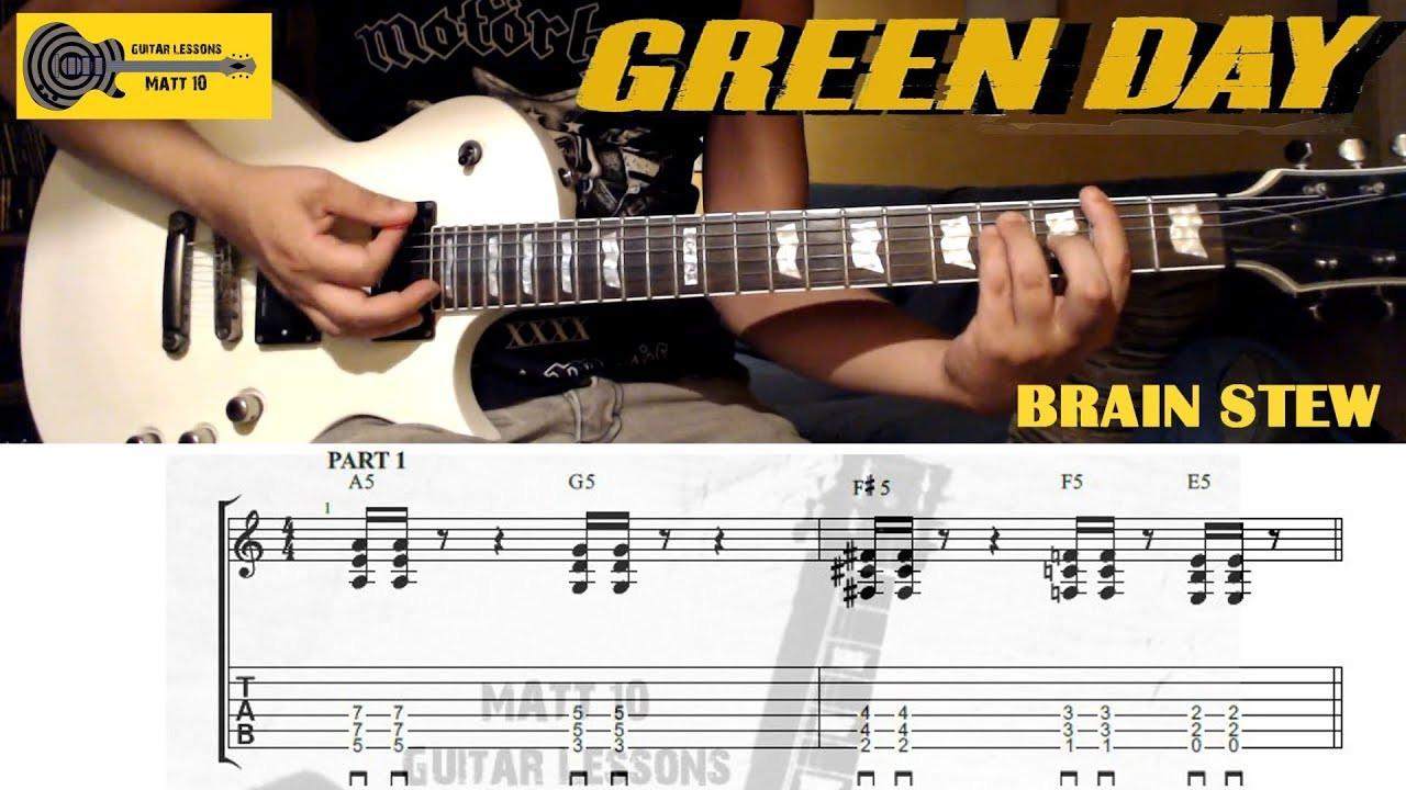 Brain Stew Chords  Brain Stew Green Day GUITAR TAB and CHORDS EASY ROCK
