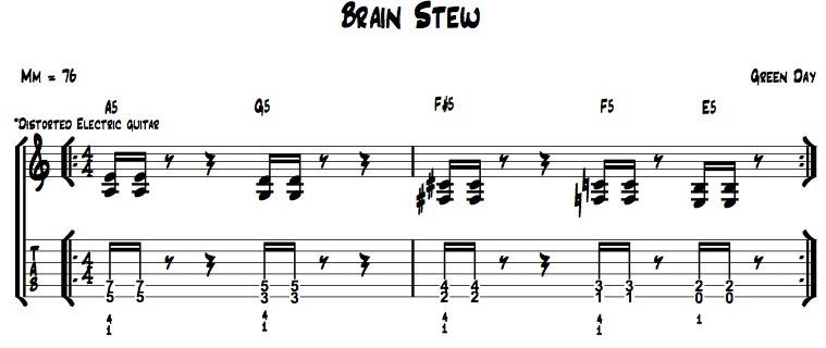 Brain Stew Chords  Easy Songs 1 Brain Stew