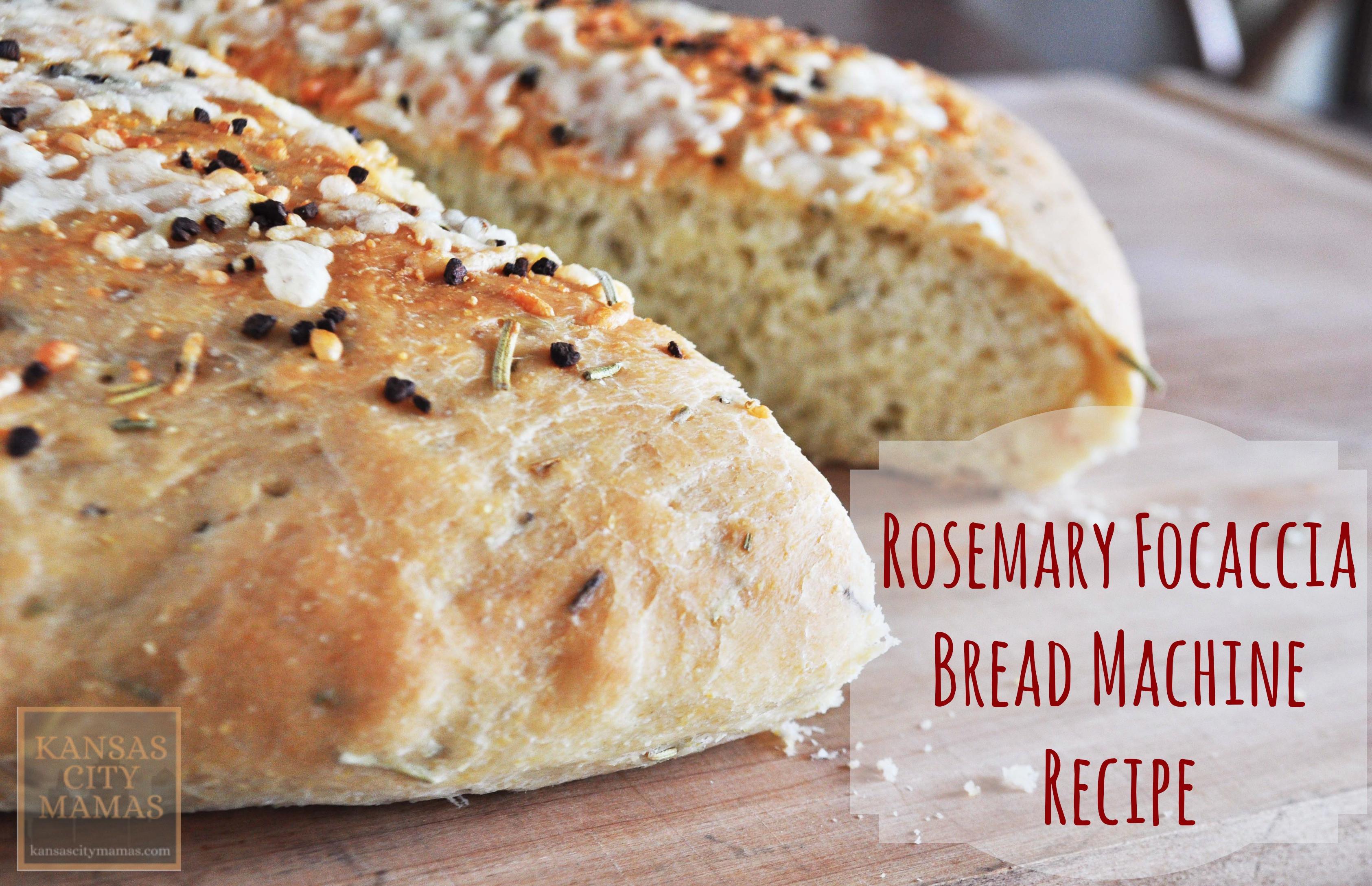 Bread Machine Bread Recipe  Rosemary Focaccia Bread Machine Recipe