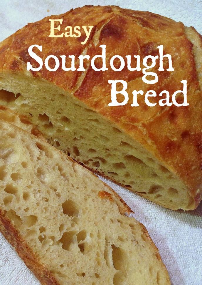Bread Recipe No Yeast  easy sourdough bread no yeast