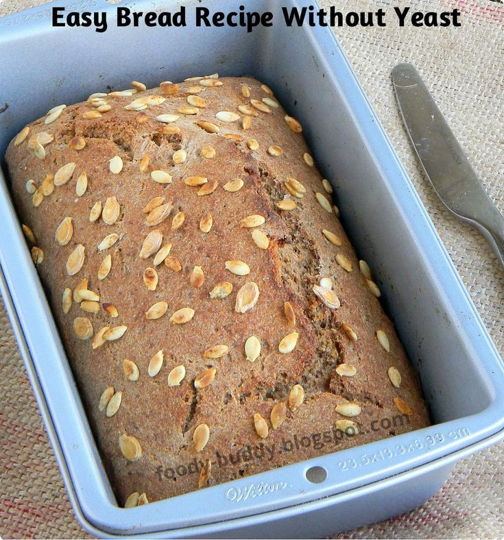 Bread Recipe No Yeast  1000 ideas about No Yeast Bread on Pinterest