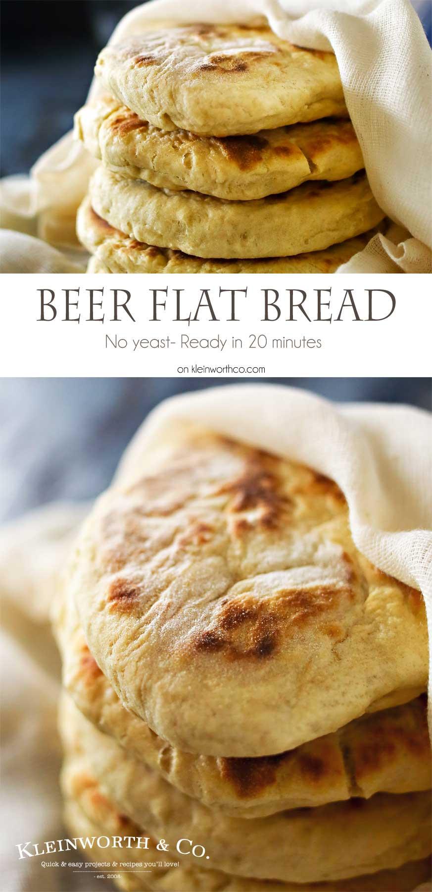 Bread Recipe No Yeast  Quick Beer Flat Bread Kleinworth & Co