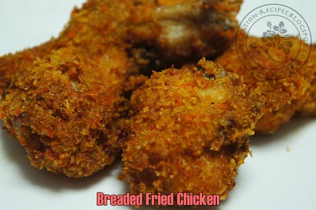 Breaded Fried Chicken  HomeKreation Kitchen Corner Breaded Fried Chicken