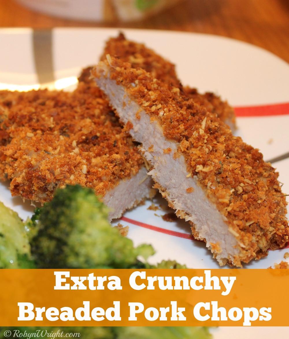 Breaded Pork Chops  Extra Crunchy Breaded Pork Chops Recipe Robyns World