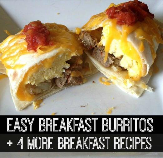 Breakfast Burrito Recipe Easy  A Week of Easy Breakfast Recipes Healthy Snacks for Mom