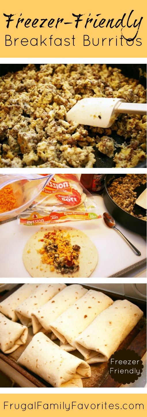 Breakfast Burrito Recipe Easy  Easy Freezer friendly Breakfast Burritos