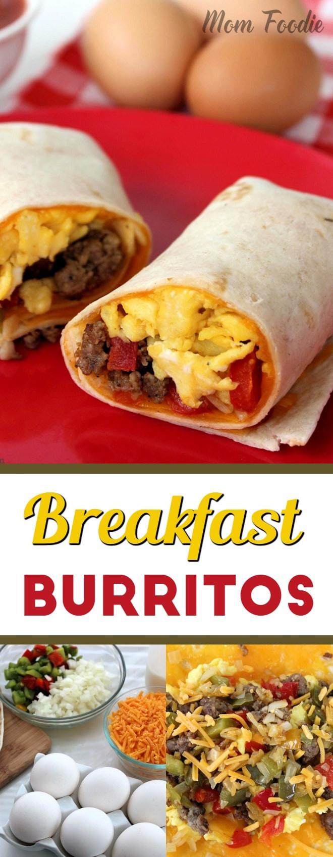 Breakfast Burrito Recipe Easy  Breakfast Burritos Easy Breakfast Recipe Mom Foo