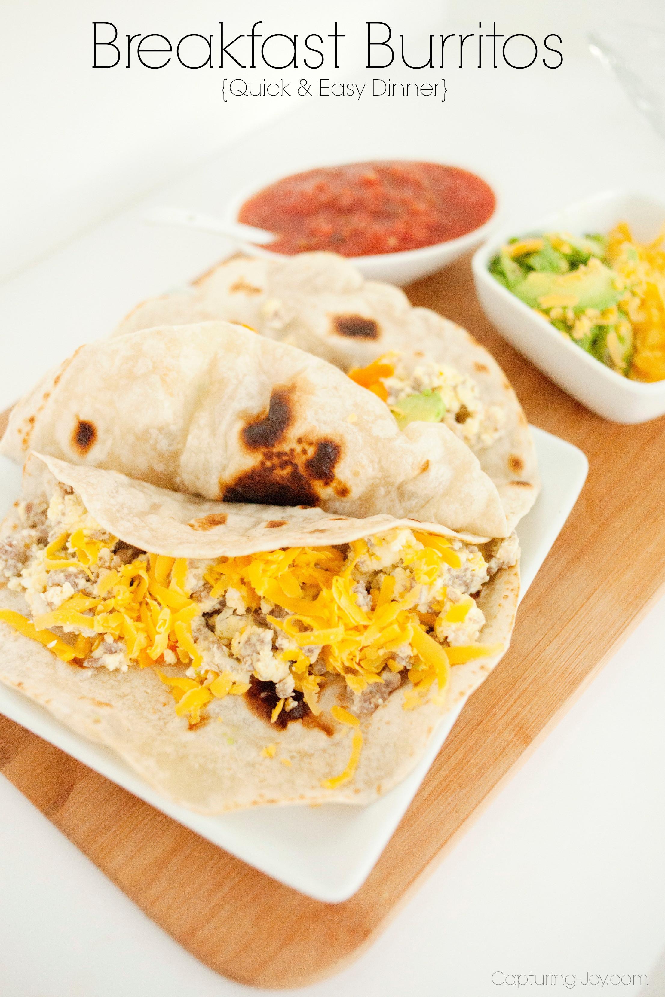 Breakfast Burrito Recipe Easy  Breakfast Burritos for Dinner