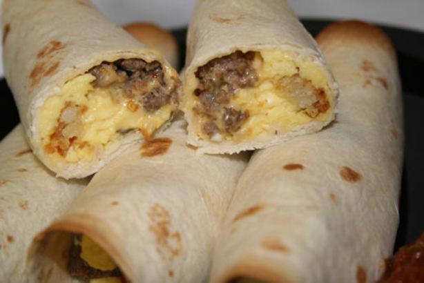 Breakfast Burrito Recipe Easy  Angels Easy Breakfast Burritos Recipe Food