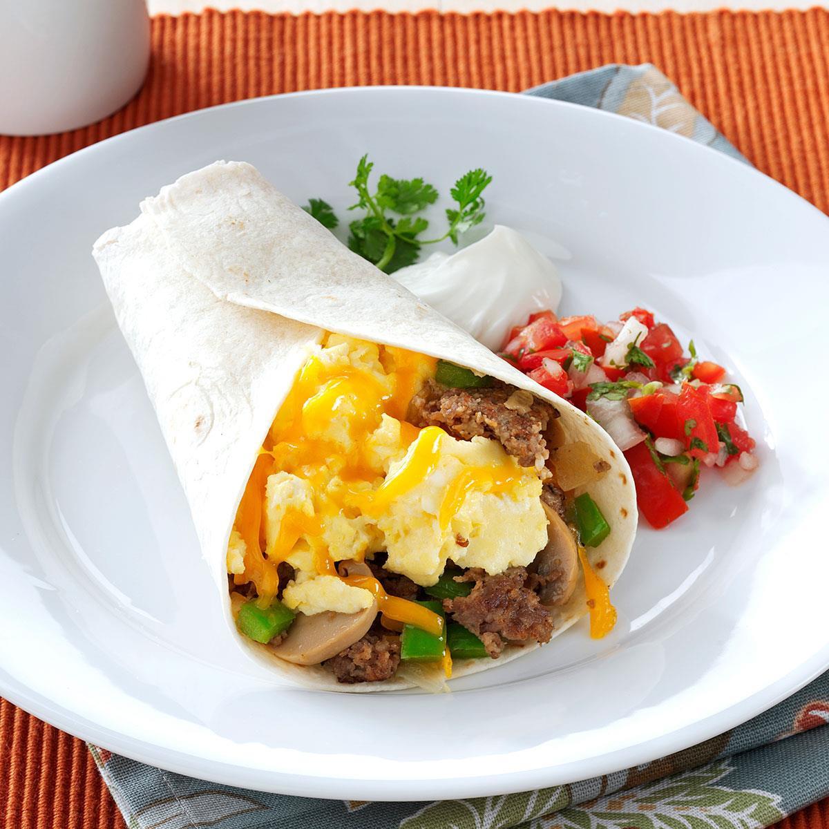 Breakfast Burrito Recipe Easy  Sausage Breakfast Burritos Recipe