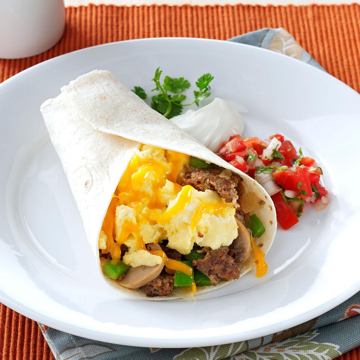 Breakfast Burritos Recipes  Sausage Breakfast Burritos Recipe