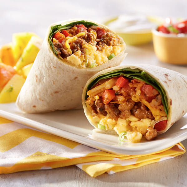 Breakfast Burritos Recipes  Loaded Breakfast Burritos Recipe