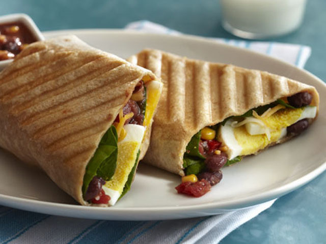 Breakfast Burritos Recipes  Breakfast Burrito Panini