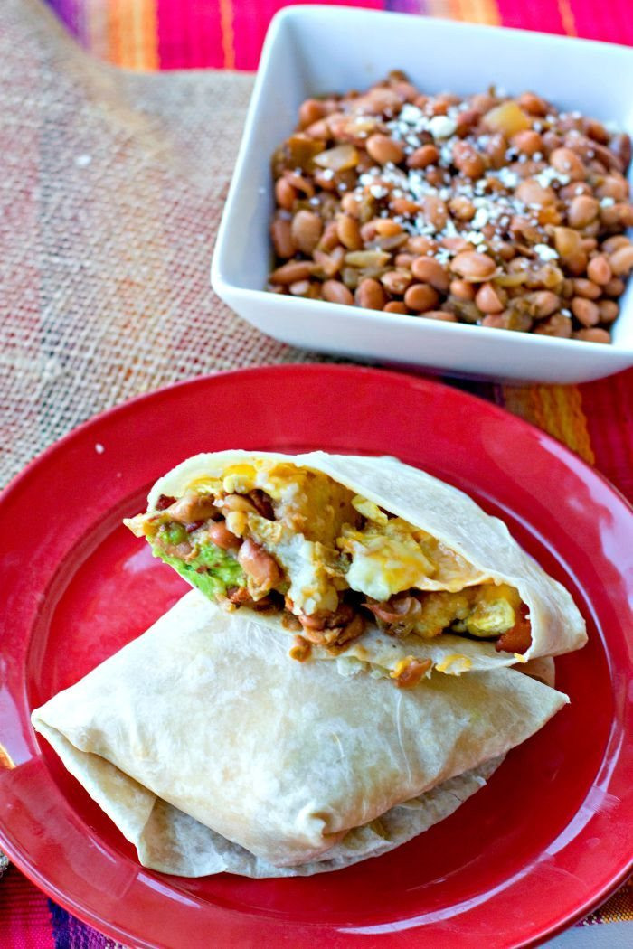 Breakfast Burritos Recipes  MEGA Breakfast Burrito Recipe • Food Folks and Fun