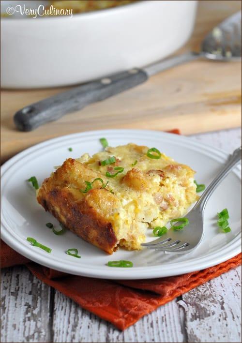 Breakfast Casserole With Tater Tots  Tater Tot Breakfast Casserole