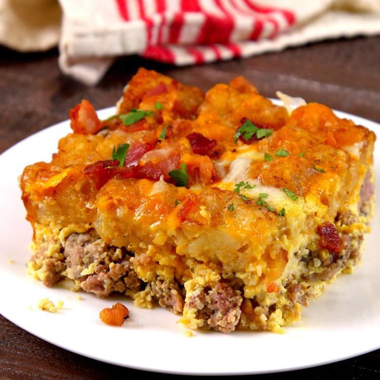 Breakfast Casserole With Tater Tots  Tater Tot Breakfast Casserole Recipe & Video