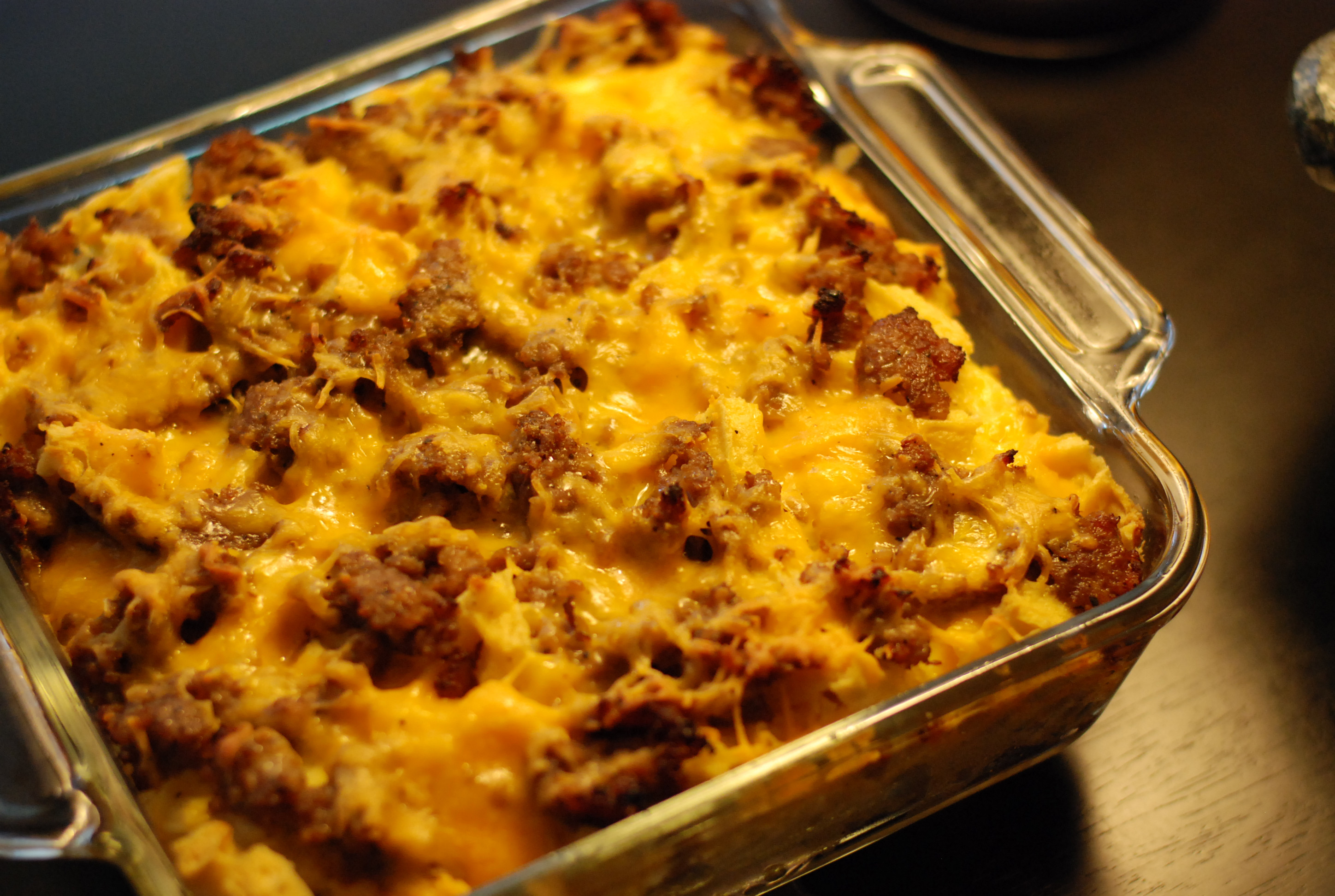 Breakfast Casseroles With Sausage  sausage and waffle breakfast casserole