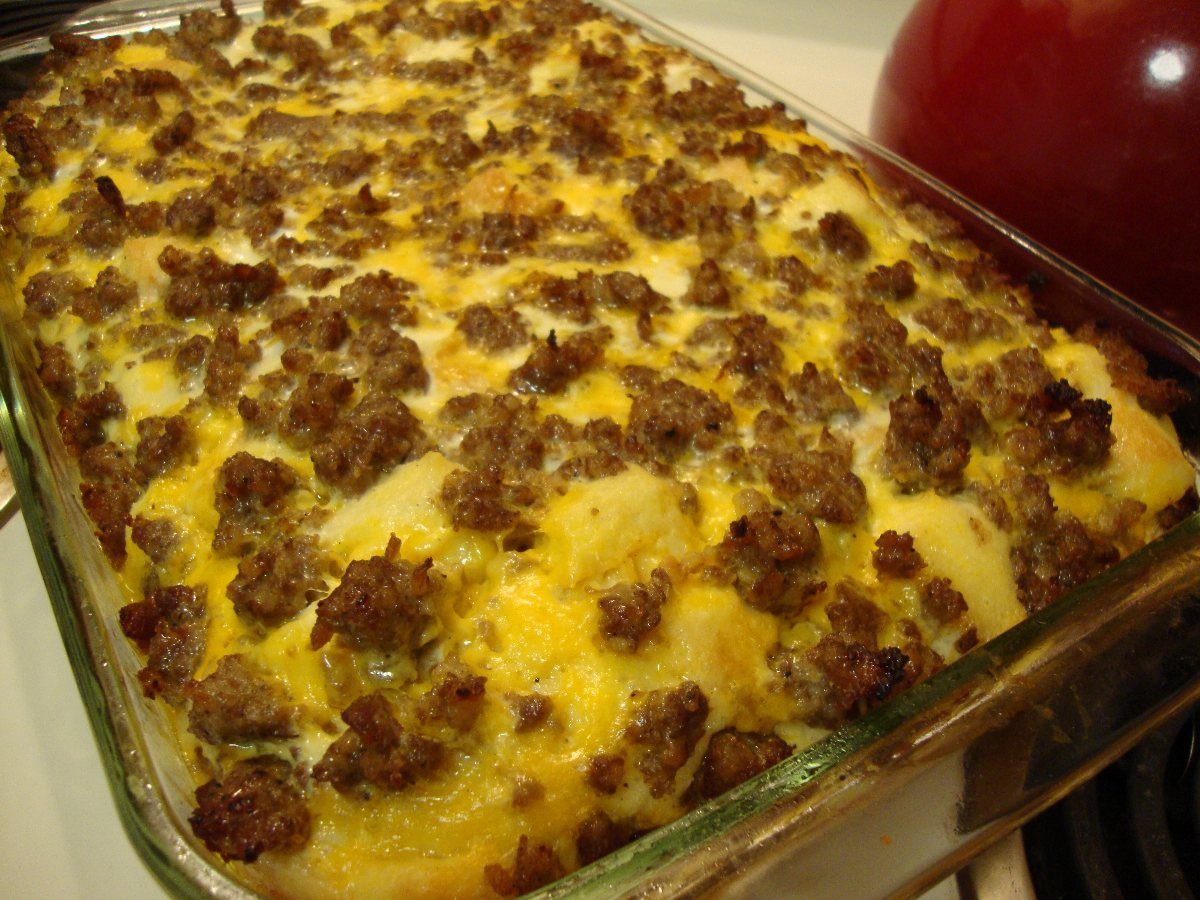 Breakfast Casseroles With Sausage  George s Breakfast Sausage Casserole BigOven
