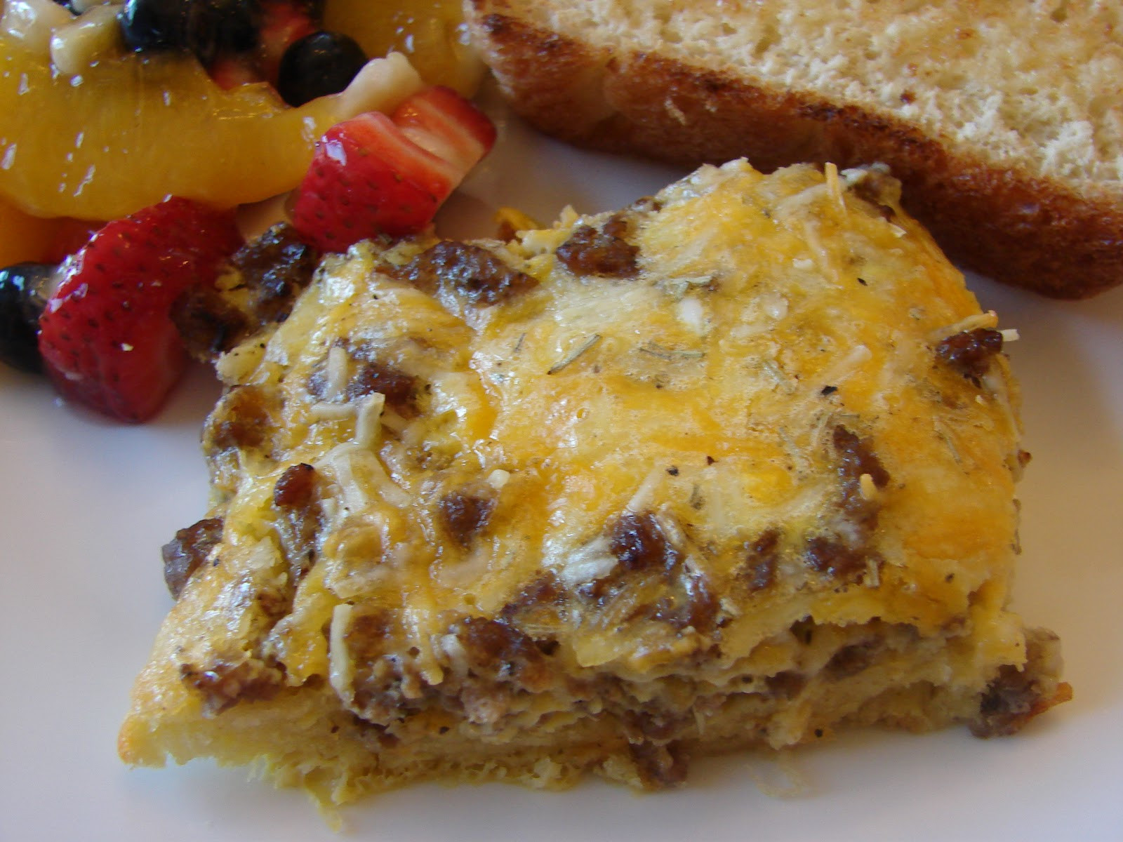 Breakfast Casseroles With Sausage  A Bear in the Kitchen Sausage Breakfast Casserole