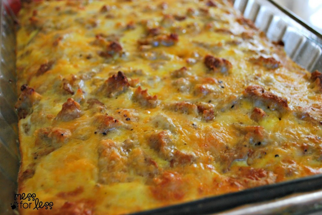 Breakfast Casseroles With Sausage  Sausage Egg and Biscuit Breakfast Casserole Food Fun
