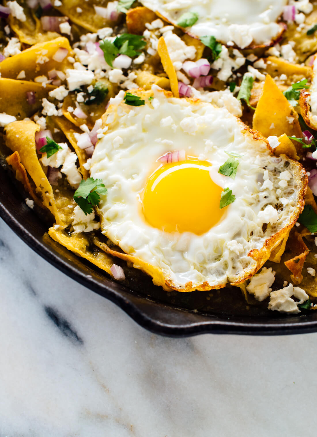 Breakfast Chilaquiles Recipe  Chilaquiles Verdes with Baked Tortilla Chips Cookie and Kate