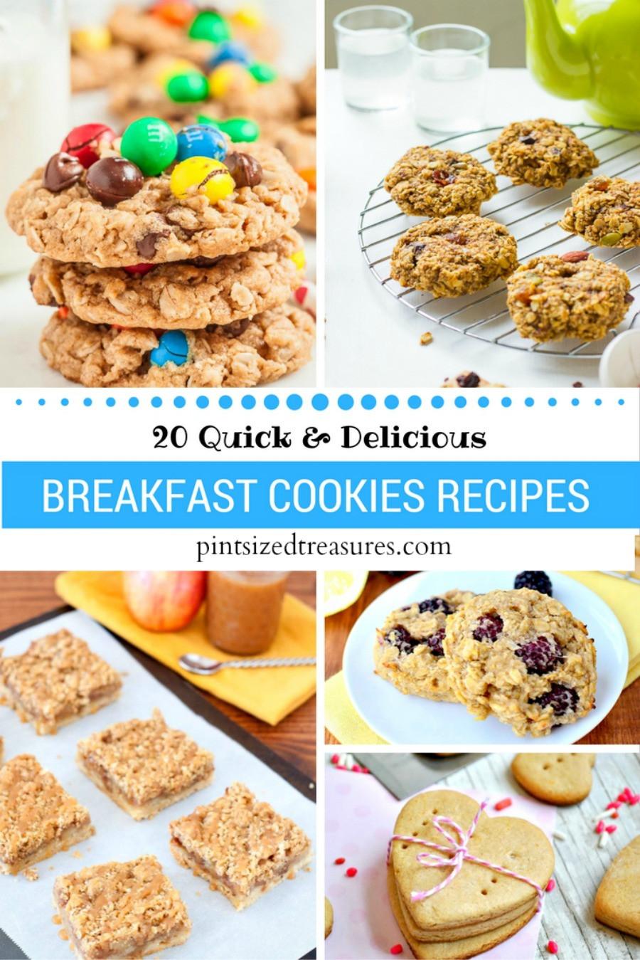 Breakfast Cookie Recipes  20 Quick Breakfast Cookie Recipes · Pint sized Treasures