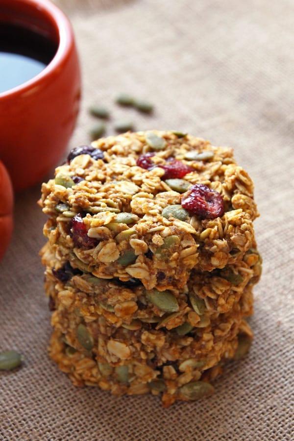Breakfast Cookie Recipes  Pumpkin Breakfast Cookies gluten free clean eating