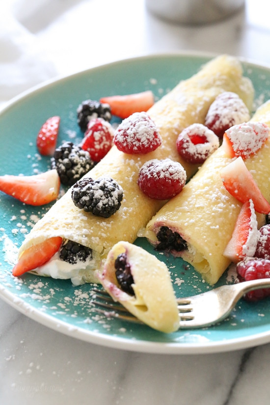 Breakfast Crepe Recipe  Czech Crepe Recipe with Berries and Cream