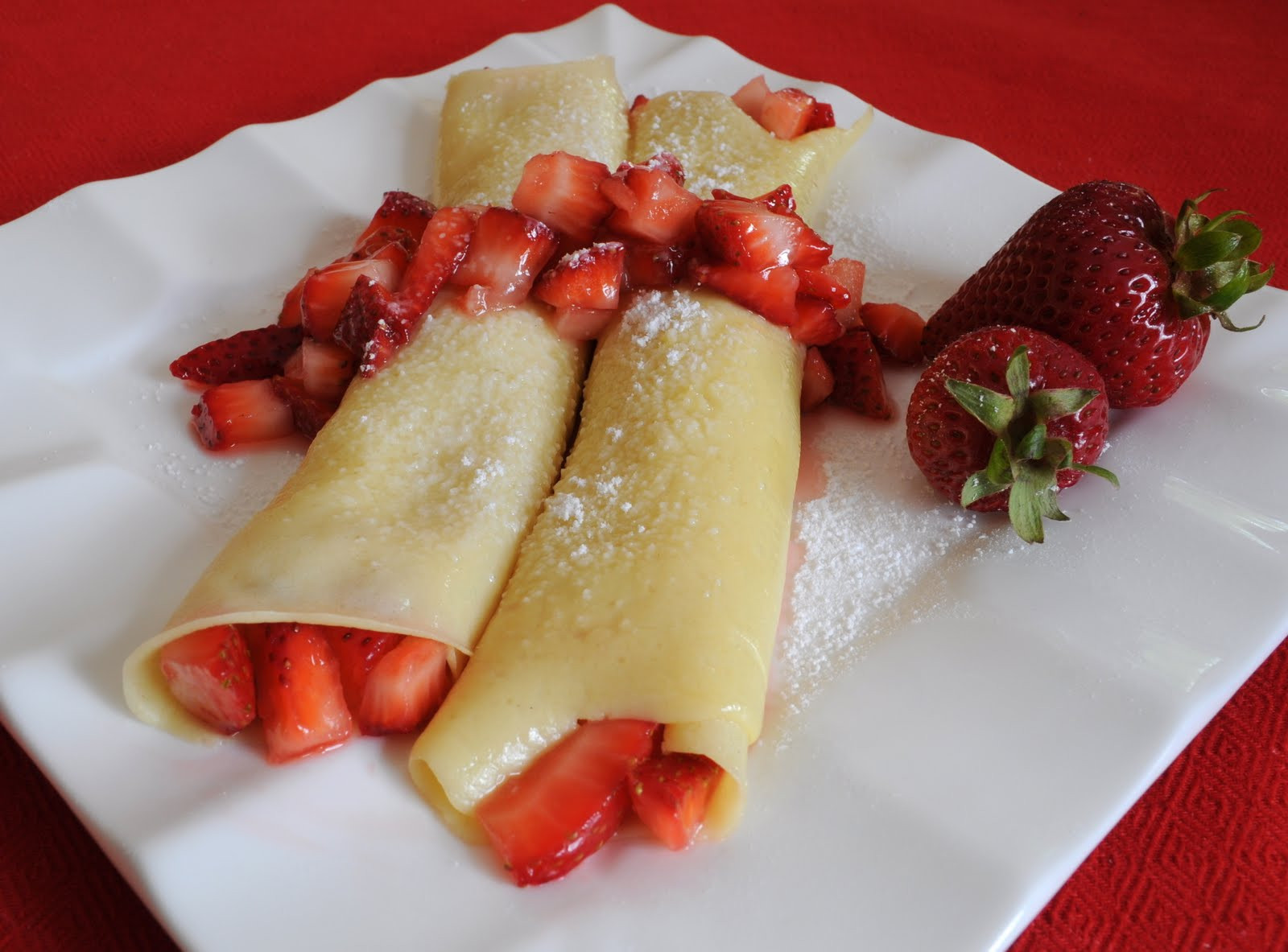 Breakfast Crepe Recipe  Strawberry Crepes