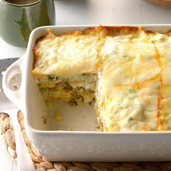 Breakfast Lasagna Recipes  Spicy Breakfast Lasagna Recipe