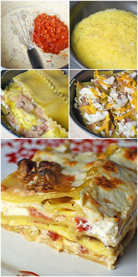 Breakfast Lasagna Recipes  breakfast lasagna bacon
