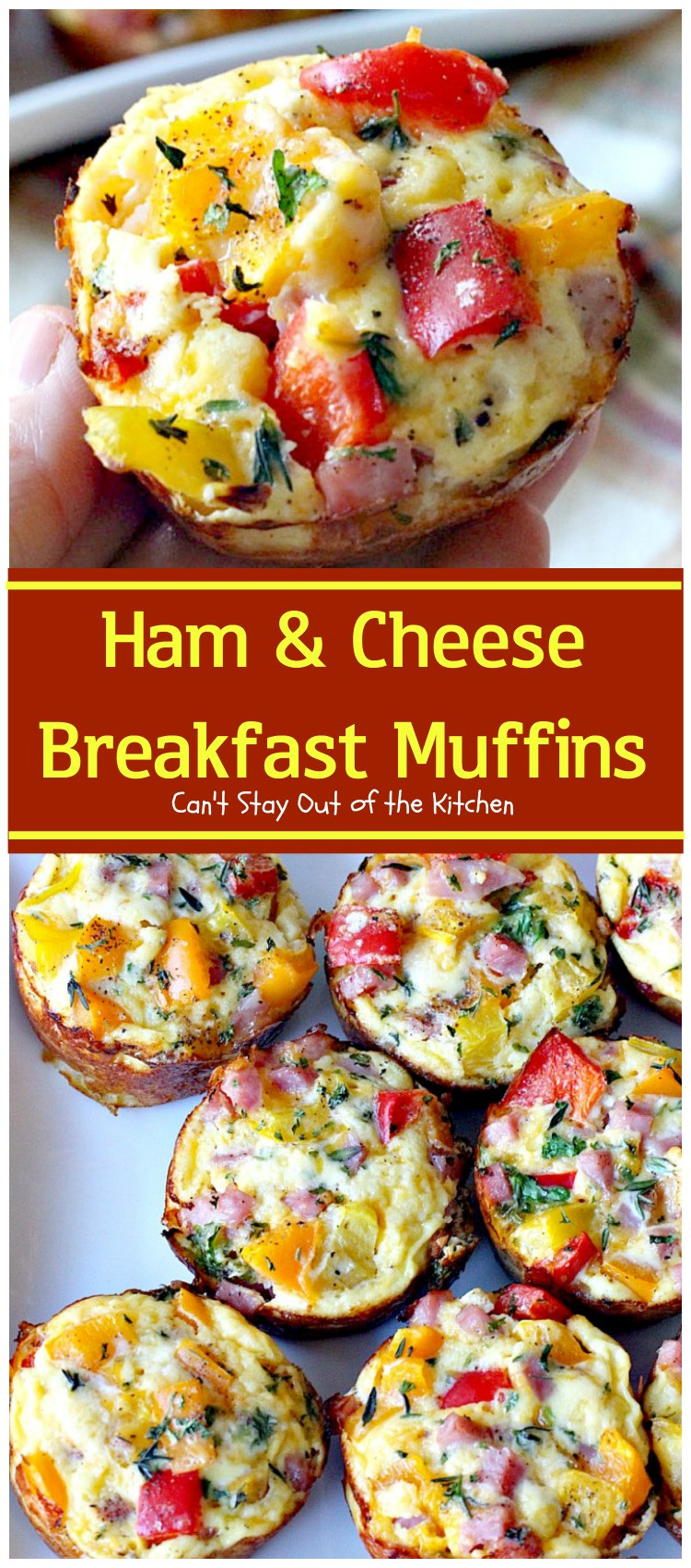 Breakfast Muffins Recipe  Ham and Cheese Breakfast Muffins Can t Stay Out of the