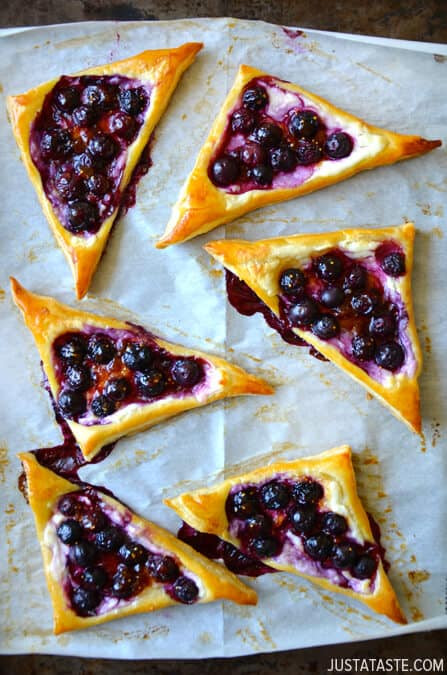 Breakfast Pastries Recipes  Blueberry Cream Cheese Pastries
