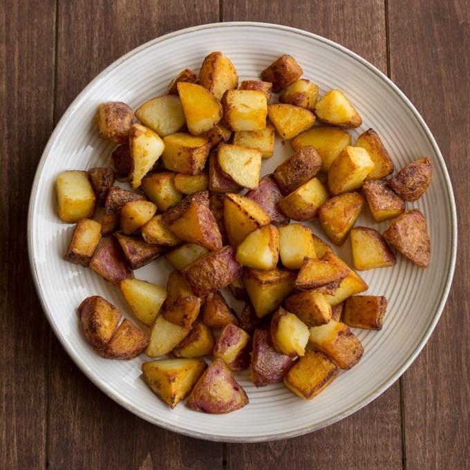 Breakfast Red Potatoes  Crispy Red Breakfast Potatoes Handful of Raspberries