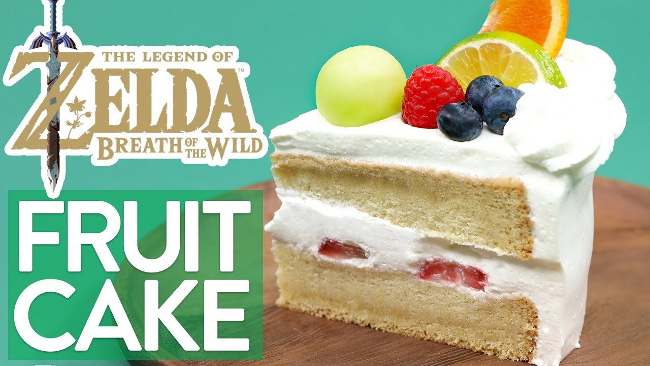 Breath Of The Wild Cake Recipe  HOW TO MAKE ZELDA FRUITCAKE Breath of the Wild NERDY