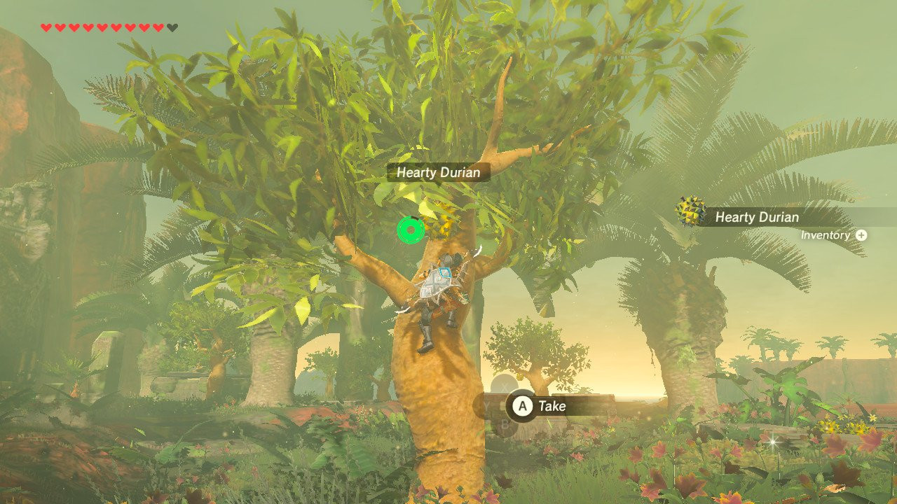 """Breath Of The Wild Fruitcake  Eat durian in """"The Legend of Zelda Breath of the Wild"""
