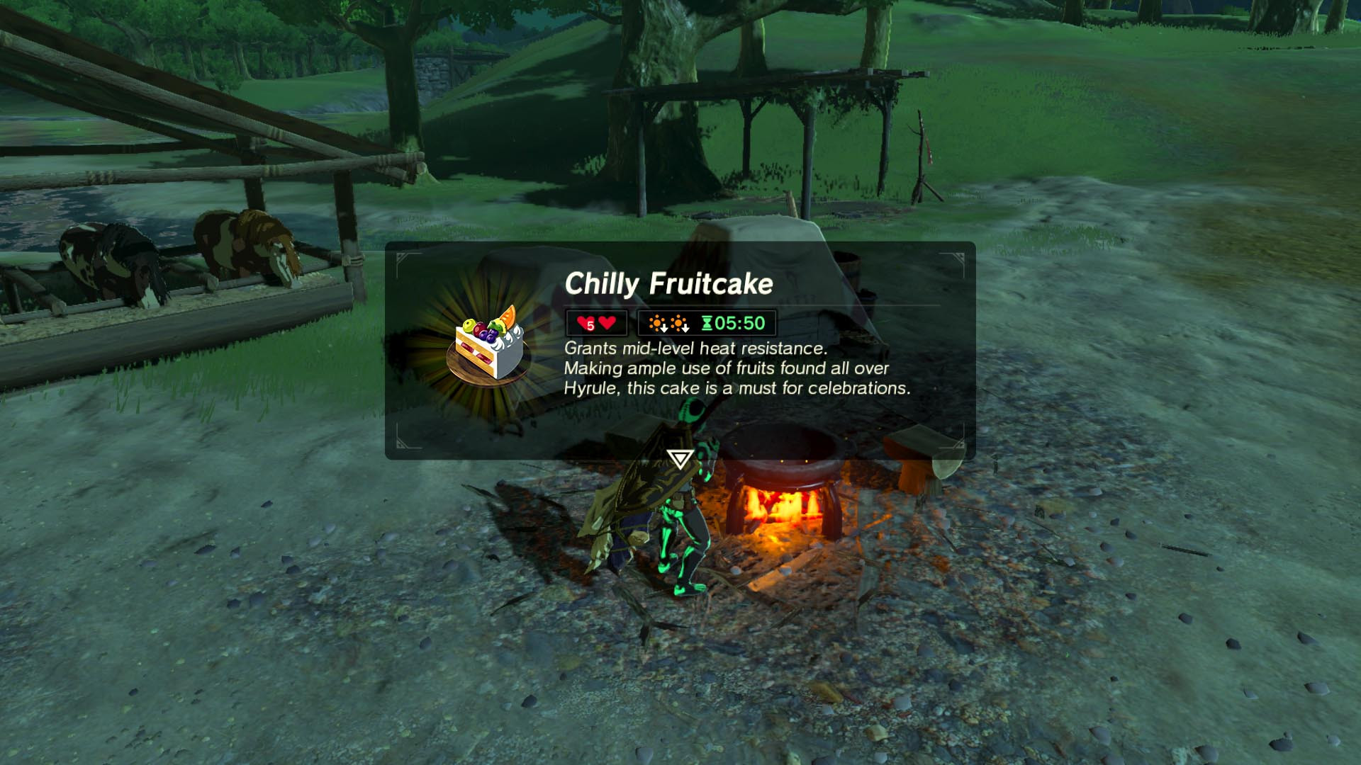 Breath Of The Wild Fruitcake  Zelda Breath of the Wild guide A Royal Recipe side quest